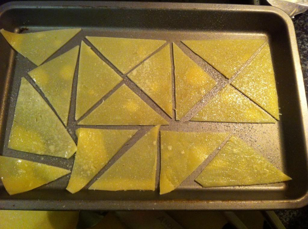 Cooking nachos